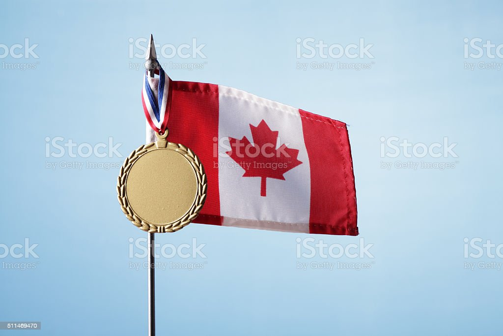 Gold Medal for Canada royalty-free stock photo