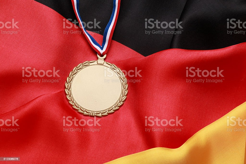 Gold Medal for Germany royalty-free stock photo