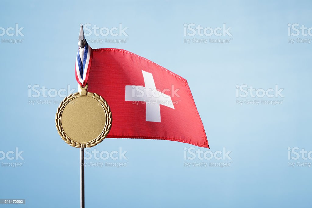 Gold Medal for Switzerland royalty-free stock photo