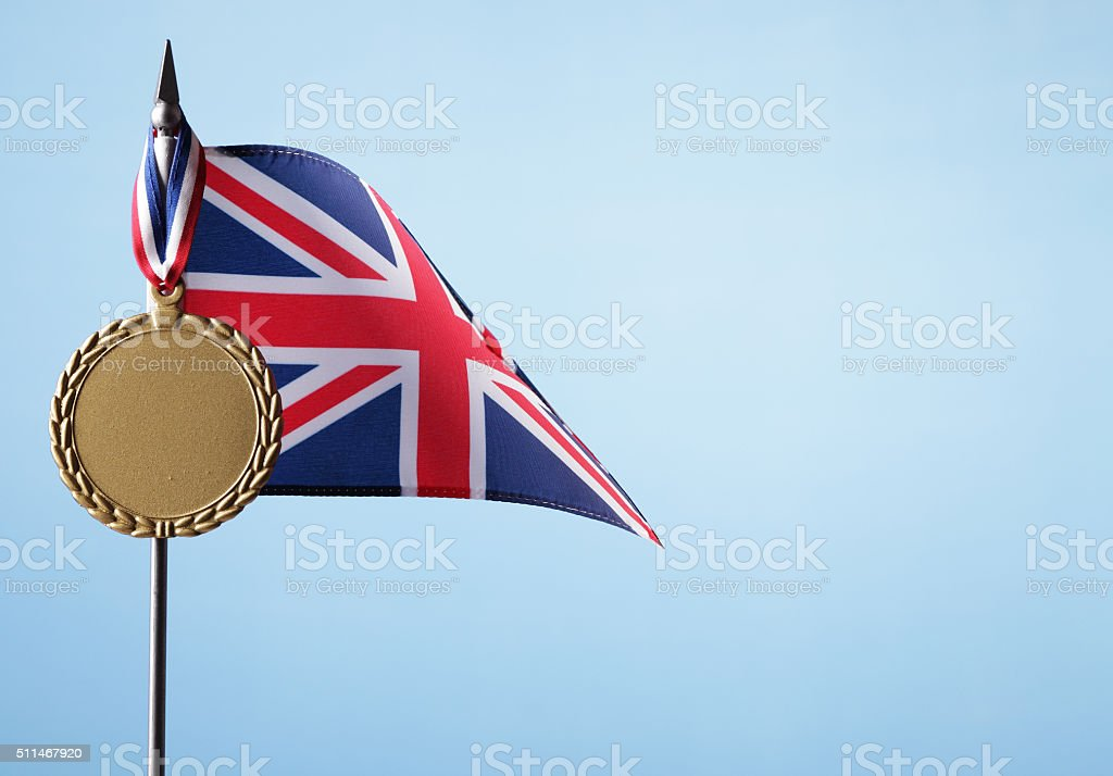 Gold Medal for UK royalty-free stock photo