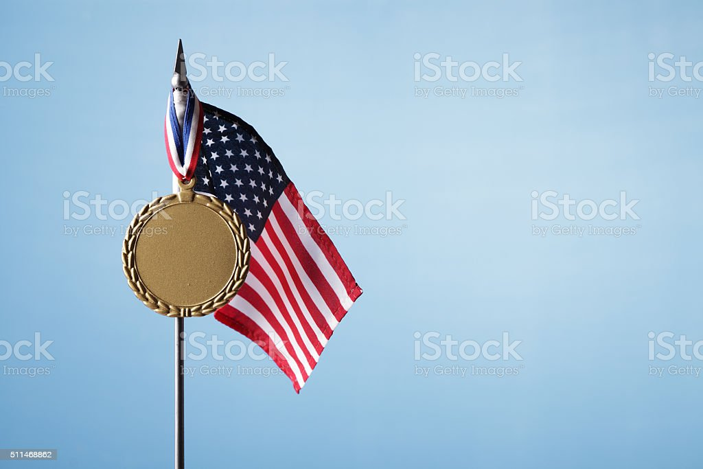 Gold Medal for USA stock photo