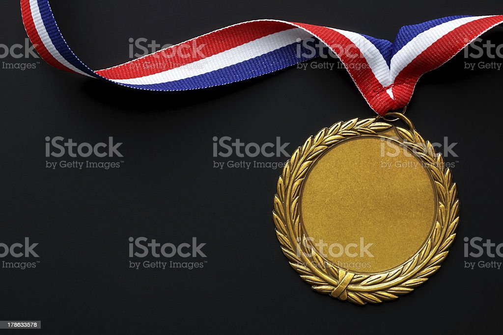 . gold medal stock photo
