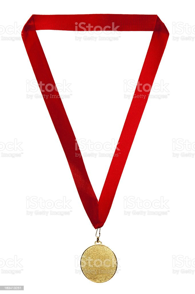 Gold Medal. stock photo