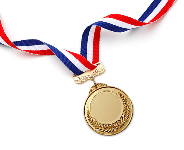 Gold Medal Gold medal on white background   medal stock pictures, royalty-free photos & images