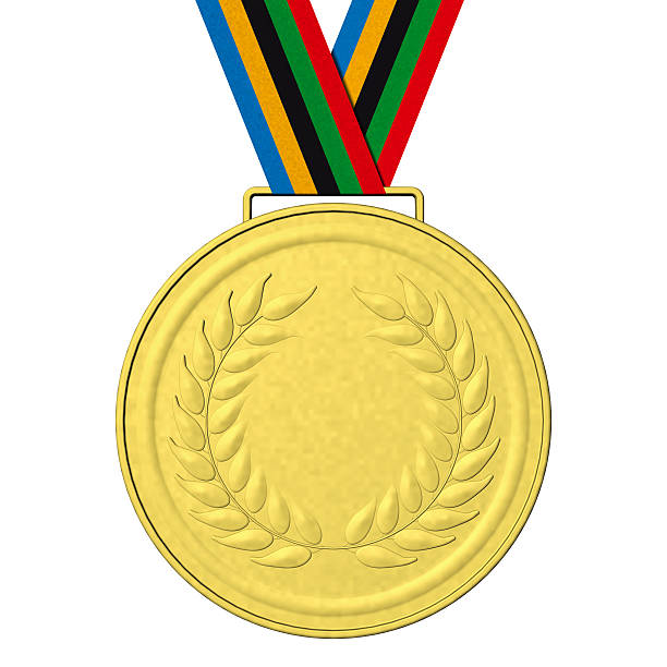 gold medal podium - 5 kontinente stock-fotos und bilder