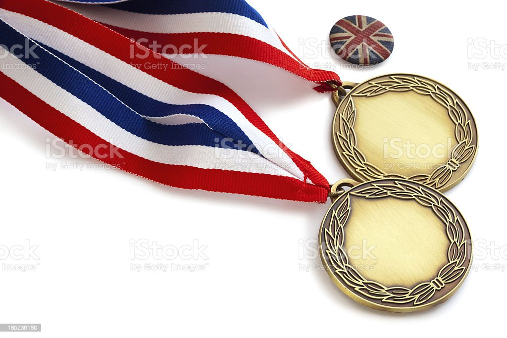 UK Gold Medal Winners royalty-free stock photo