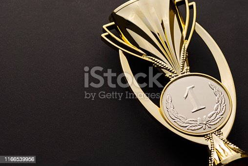 istock Gold medallion award for a first place or win 1166539956