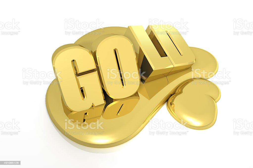 Gold Melt Away stock photo