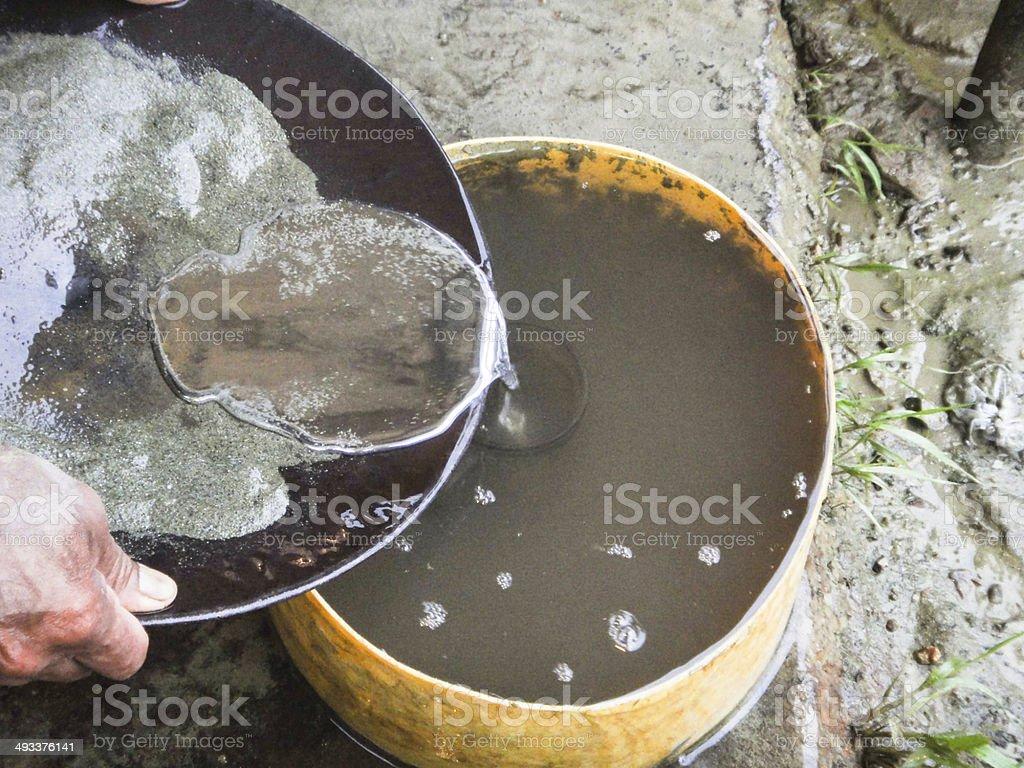 Gold Mercury Amalgam stock photo