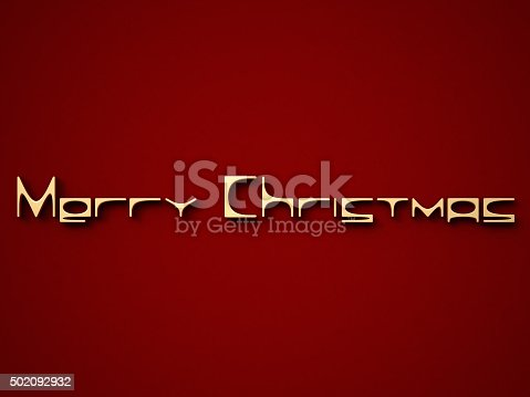 613303142 istock photo Gold Merry Christmas on a red background 502092932