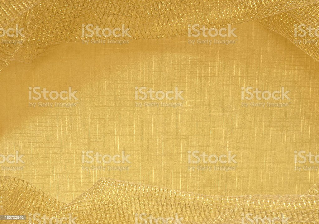 Gold Mesh Border royalty-free stock photo