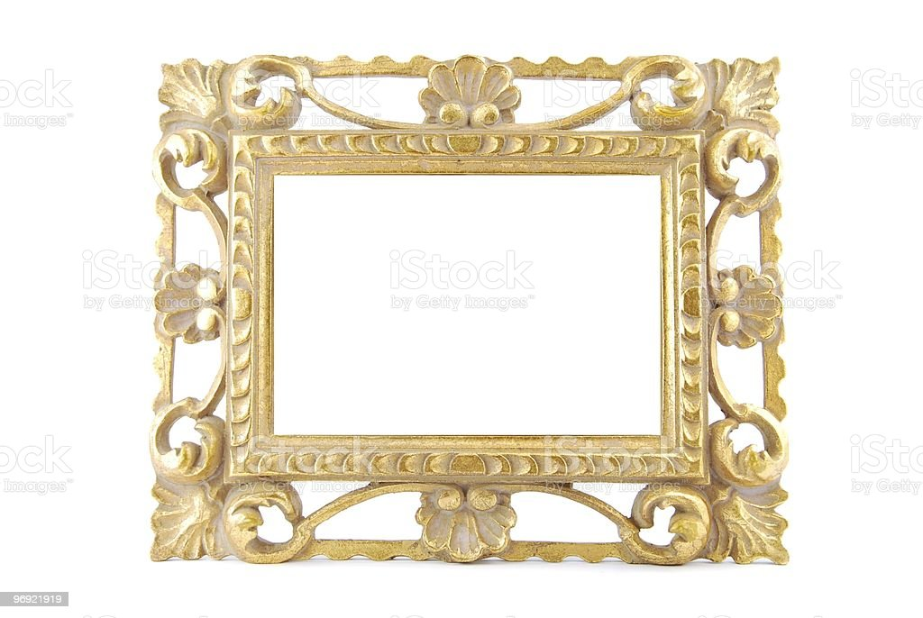 Gold metal frame royalty-free stock photo