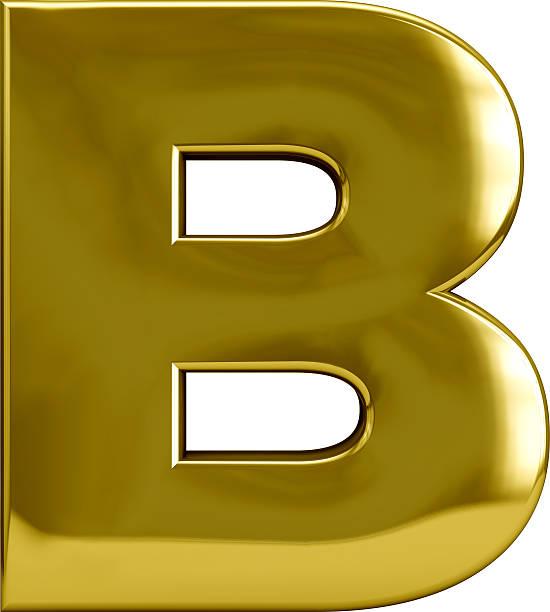 Gold Metal Lettera B - foto stock