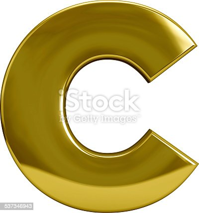 Gm Capital One >> Gold Metal Letter C Stock Photo & More Pictures of 2015 | iStock