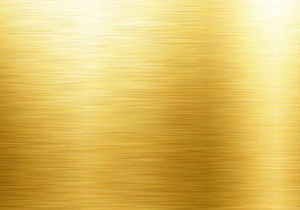 金の金属のテクスチャ背景 - ゴールド ストックフォトと画像