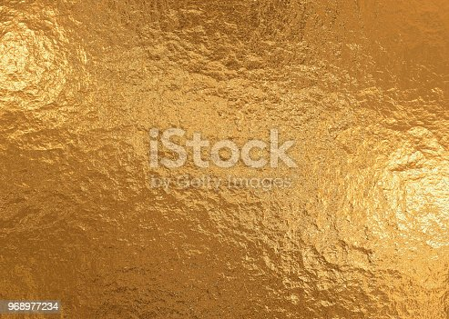 istock Gold metallic background, linen texture, bright festive background 968977234