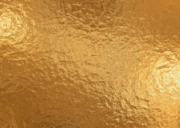 gold metallic background, linen texture, bright festive background - foil stock photos and pictures