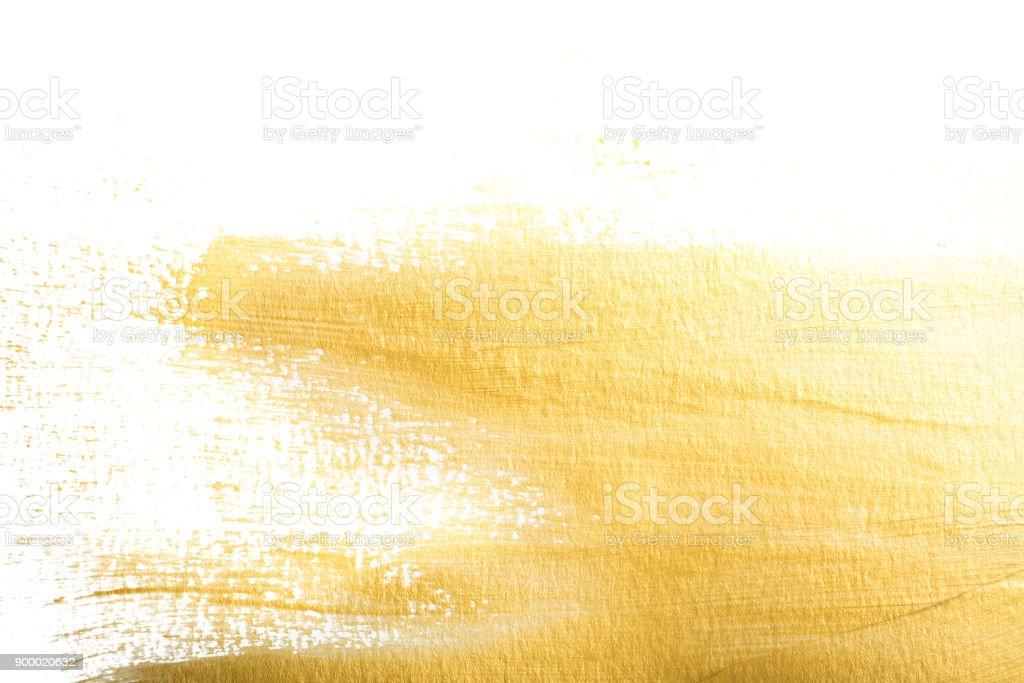 Gold Metallic Paint stock photo