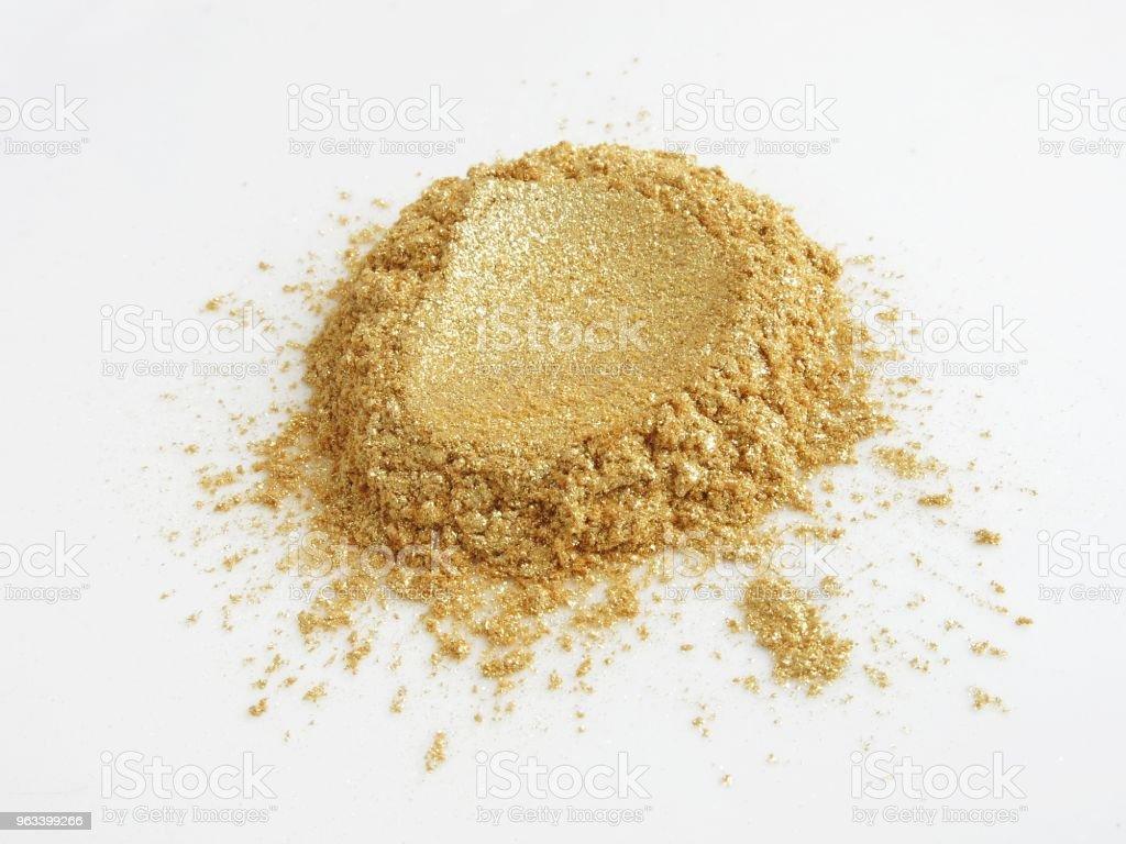 Złote pigmenty proszkowe Miki - Zbiór zdjęć royalty-free (Bez ludzi)