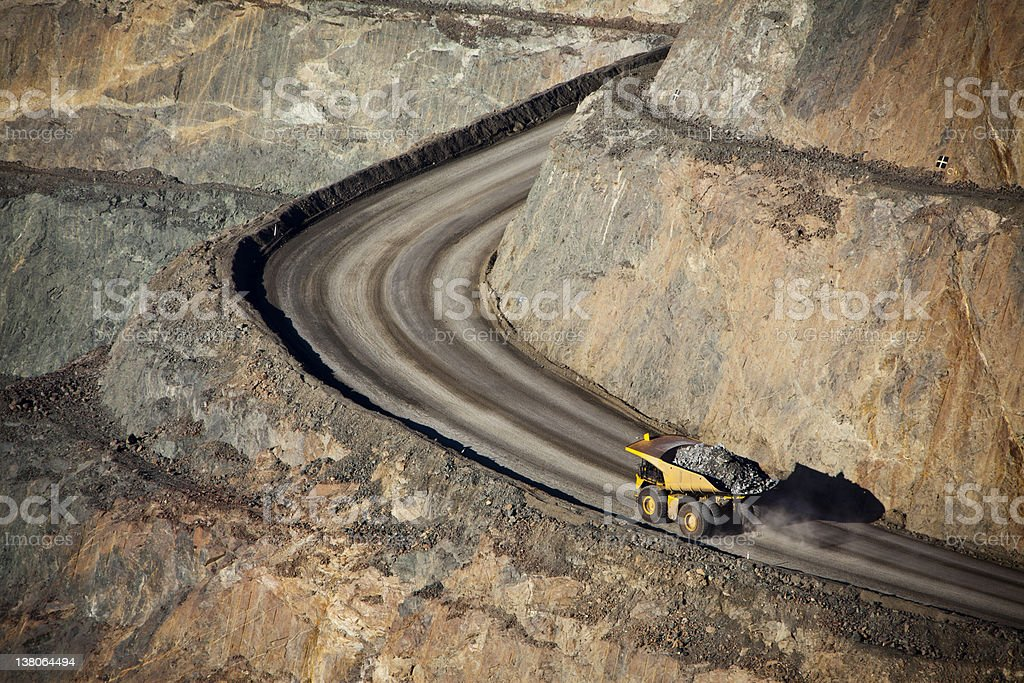 Gold Mine stock photo