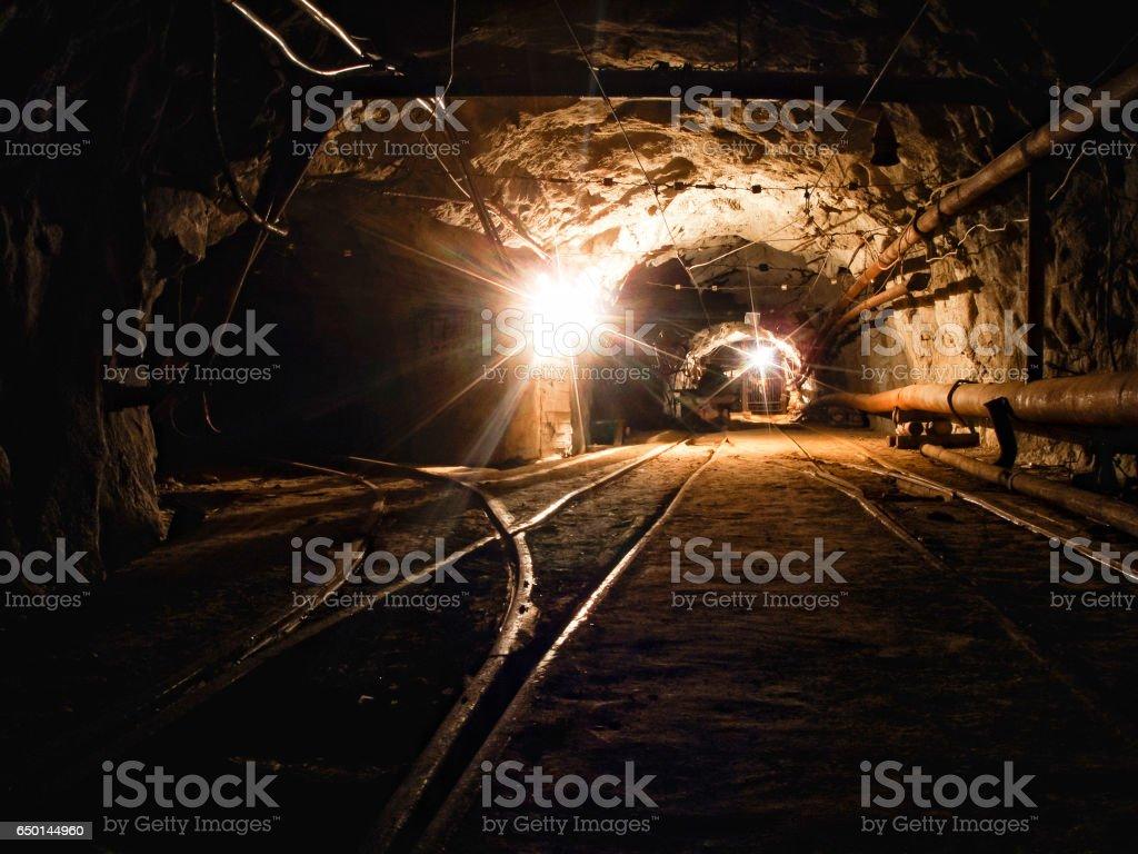 Gold mine stock photo