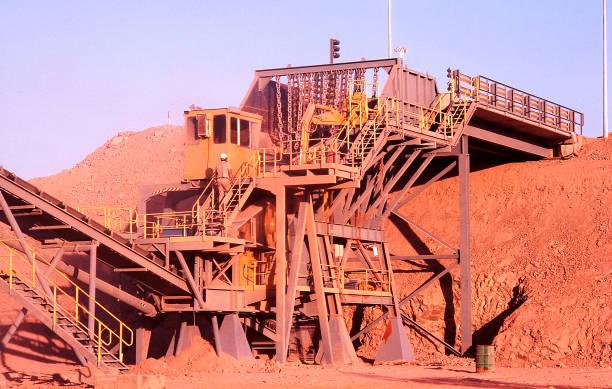 Gold mine procesing plant Tanami Desert stock photo