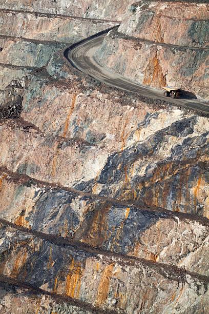 Gold Mine Truck in Kalgoorlie stock photo