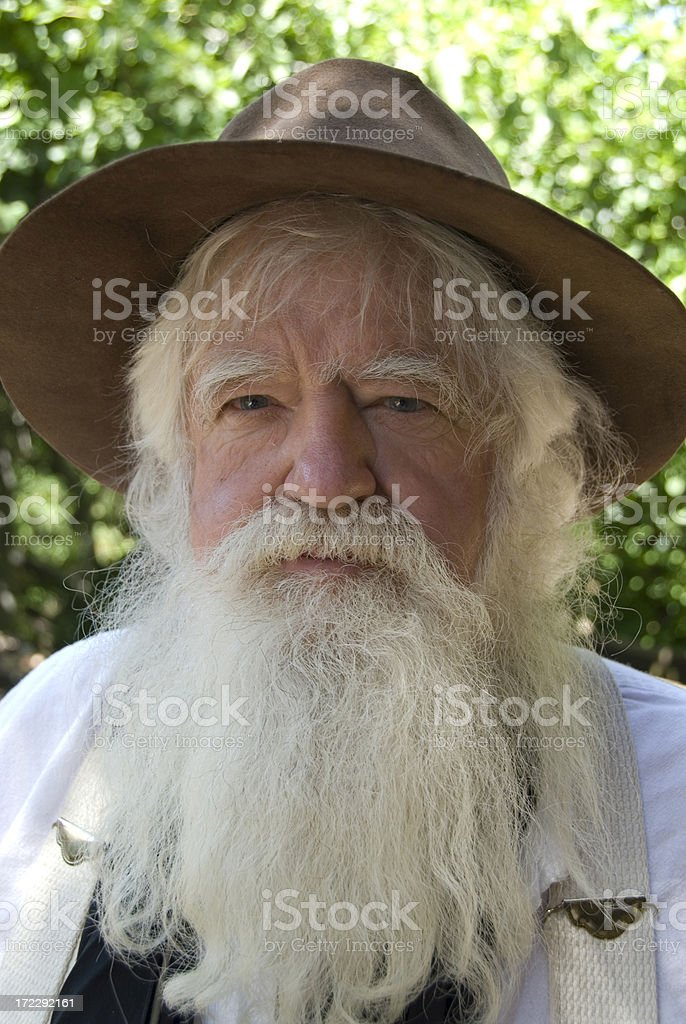 Gold Miner Clarence stock photo