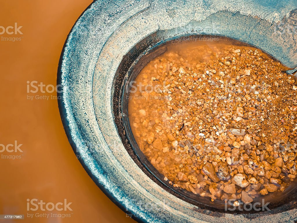 Gold mining stock photo