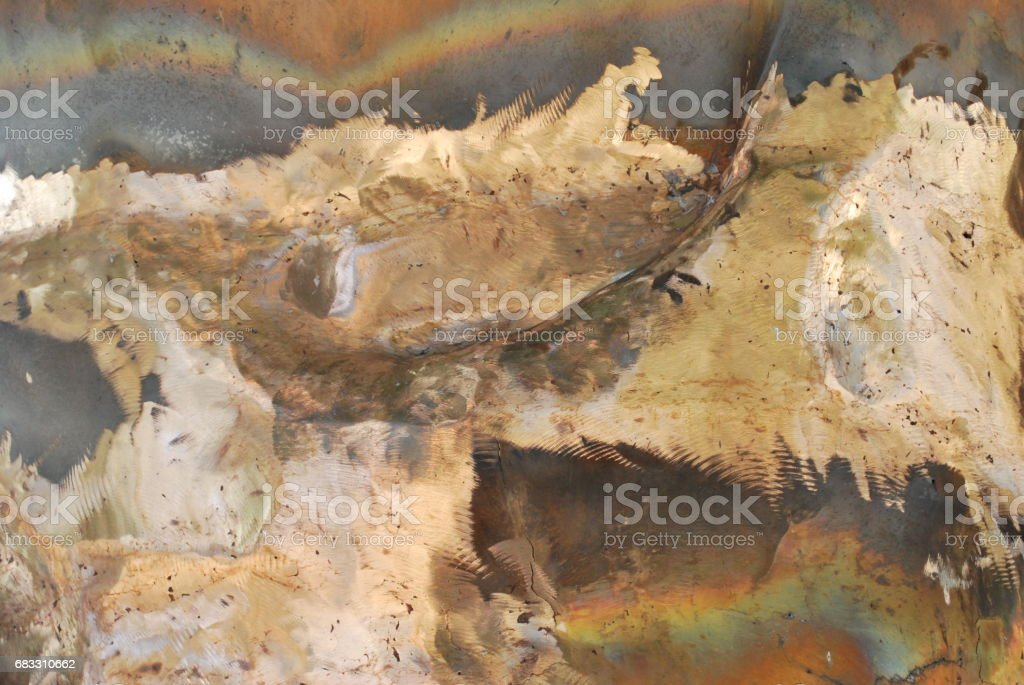 Gold mixed with copper metals foto stock royalty-free