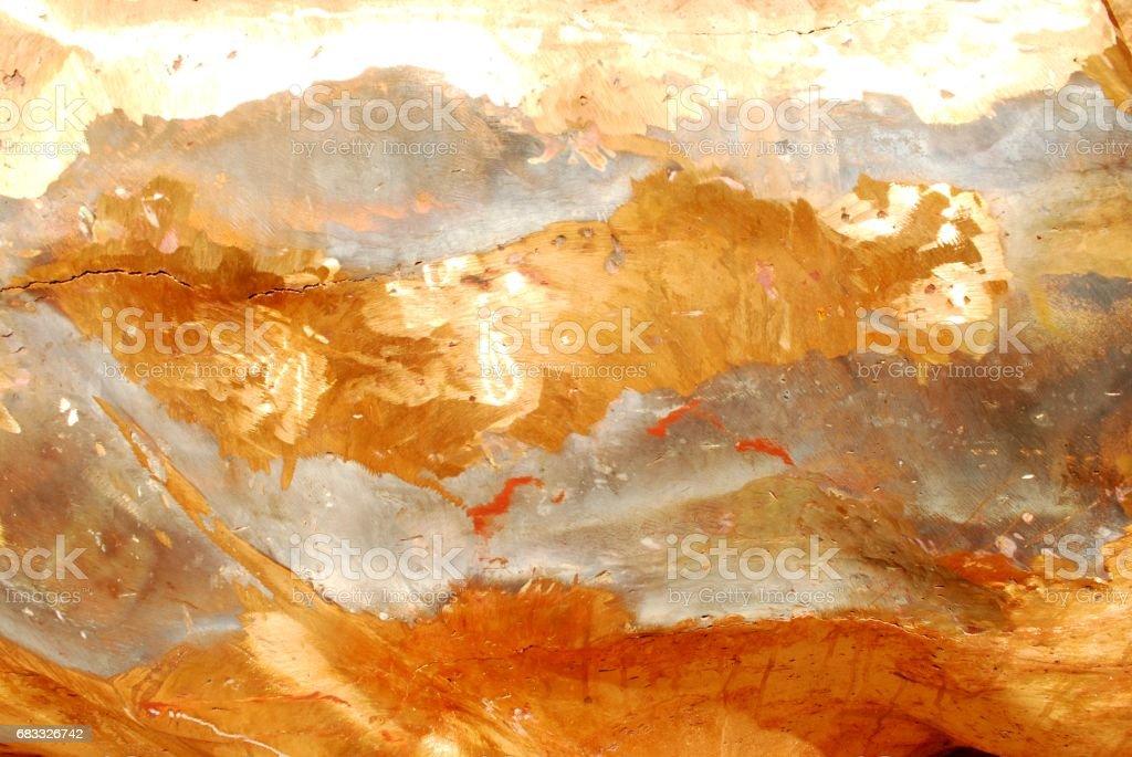 Gold mixed with copper metals royaltyfri bildbanksbilder