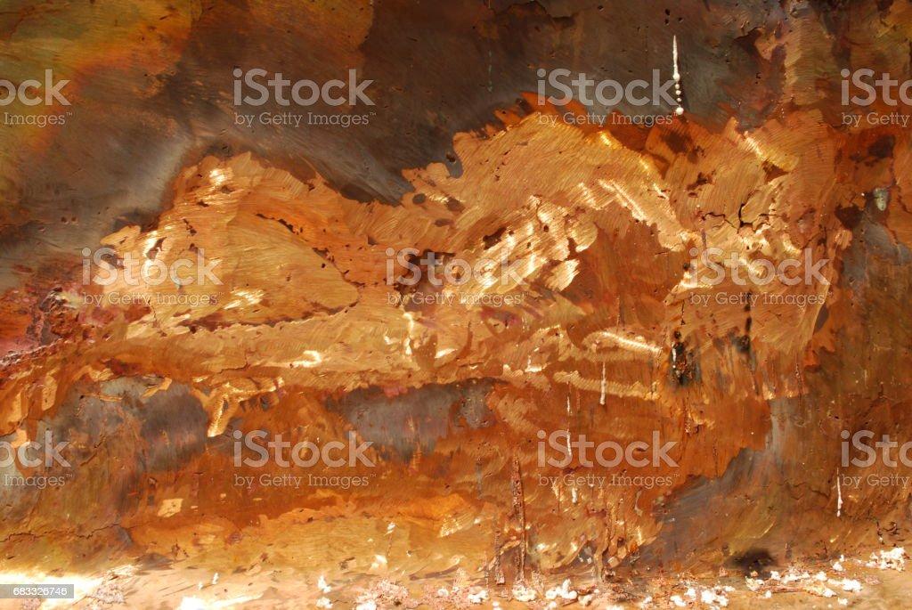 Gold mixed with copper metals photo libre de droits