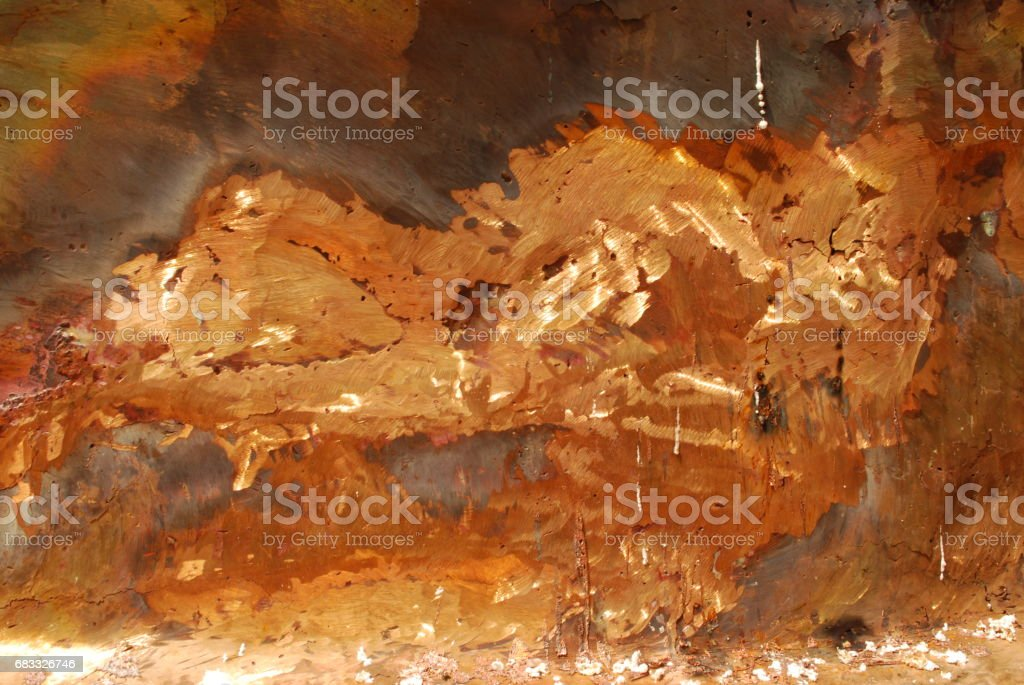 Gold mixed with copper metals foto de stock libre de derechos