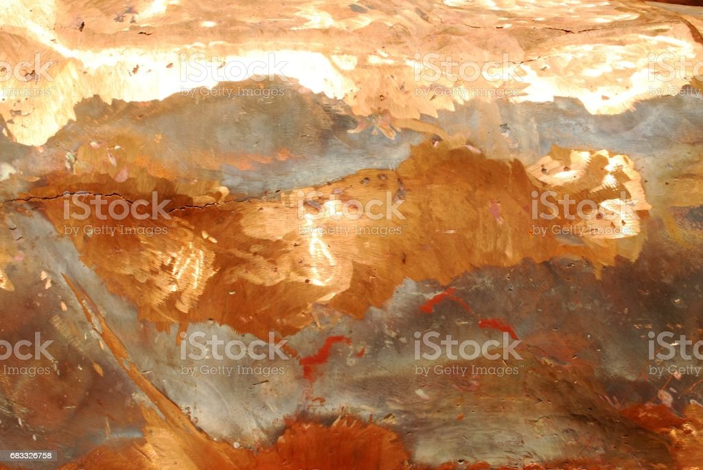 Gold mixed with copper metals royalty-free stock photo