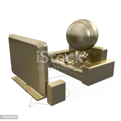 istock Gold model of gamer 97628782