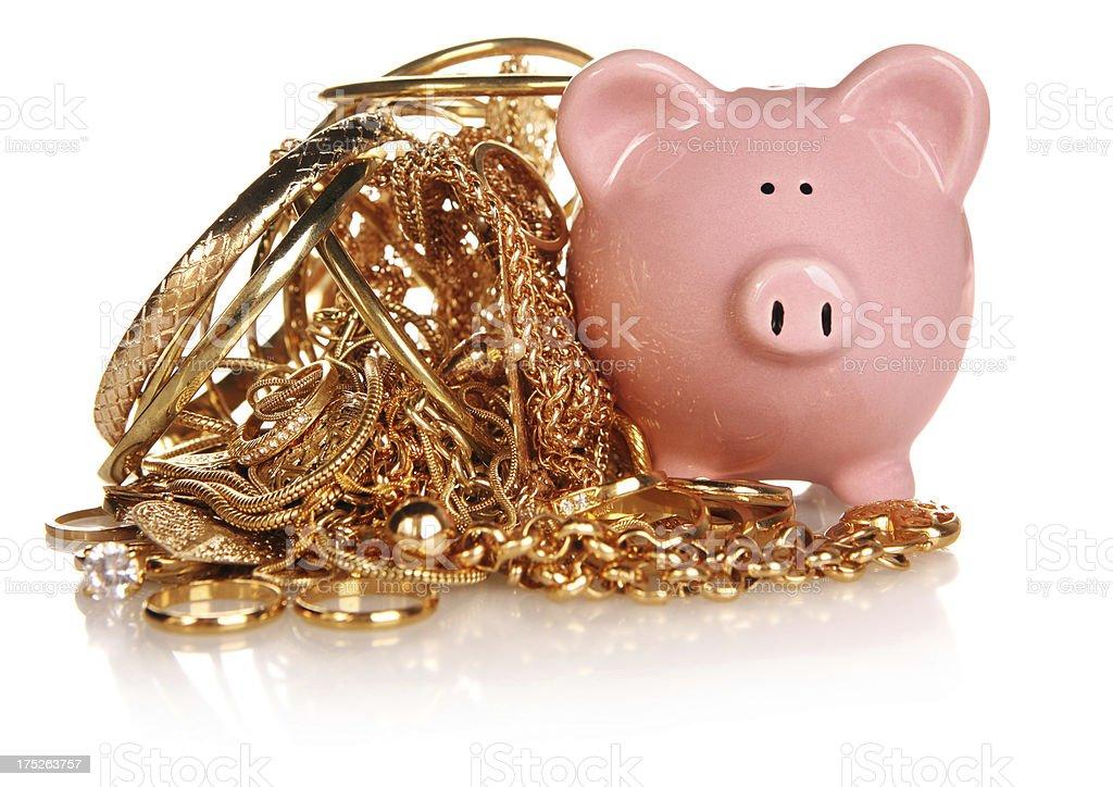 Gold Money royalty-free stock photo