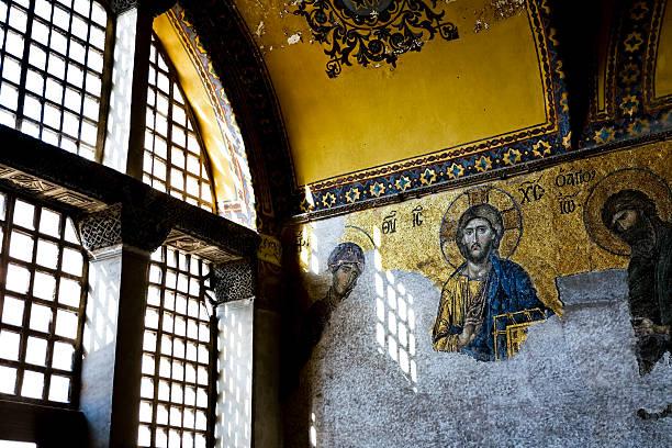 Gold Mosaic. stock photo