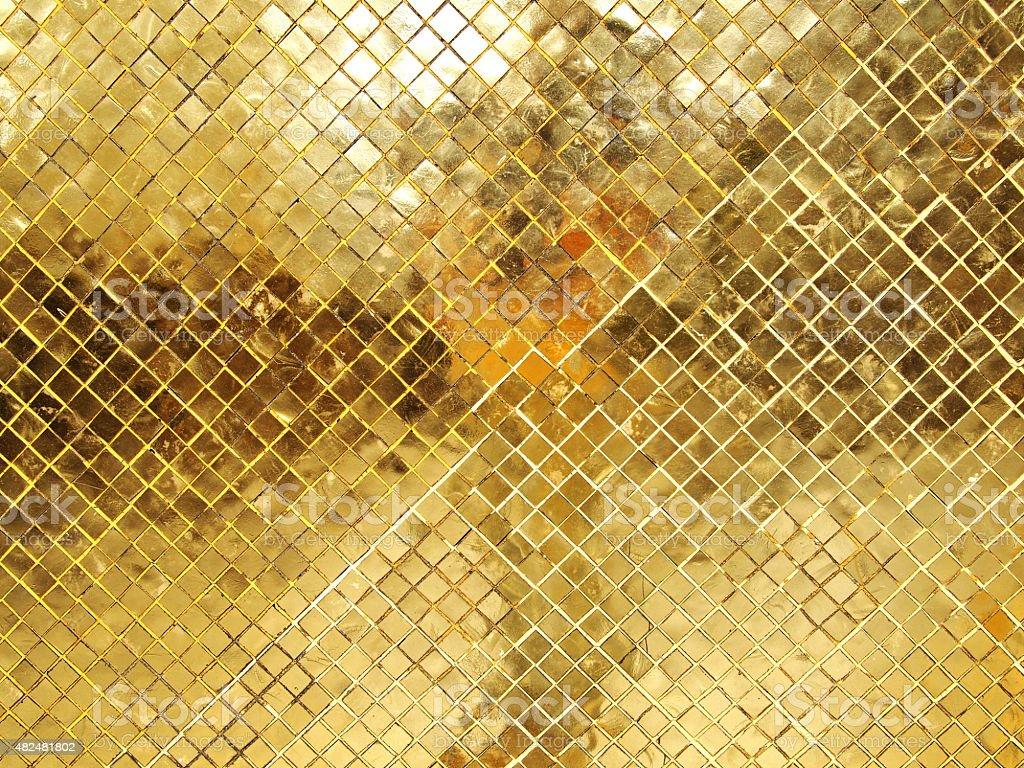 Trama di piastrelle a mosaico in oro fotografie stock e altre