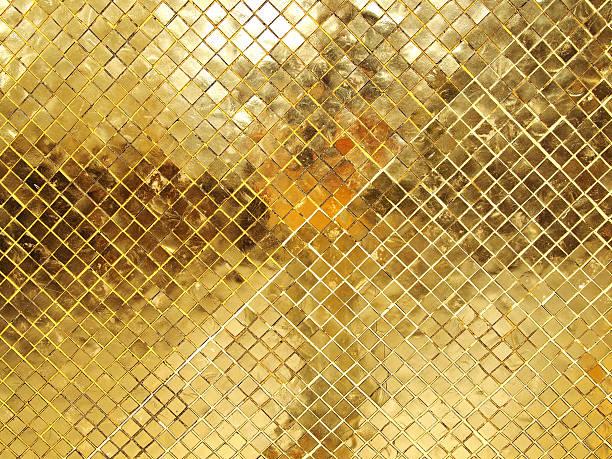 gold mosaik-fliesen textur - glitter farbige wände stock-fotos und bilder