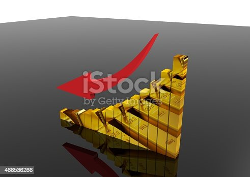 600166766istockphoto Gold moving down graph 466536266