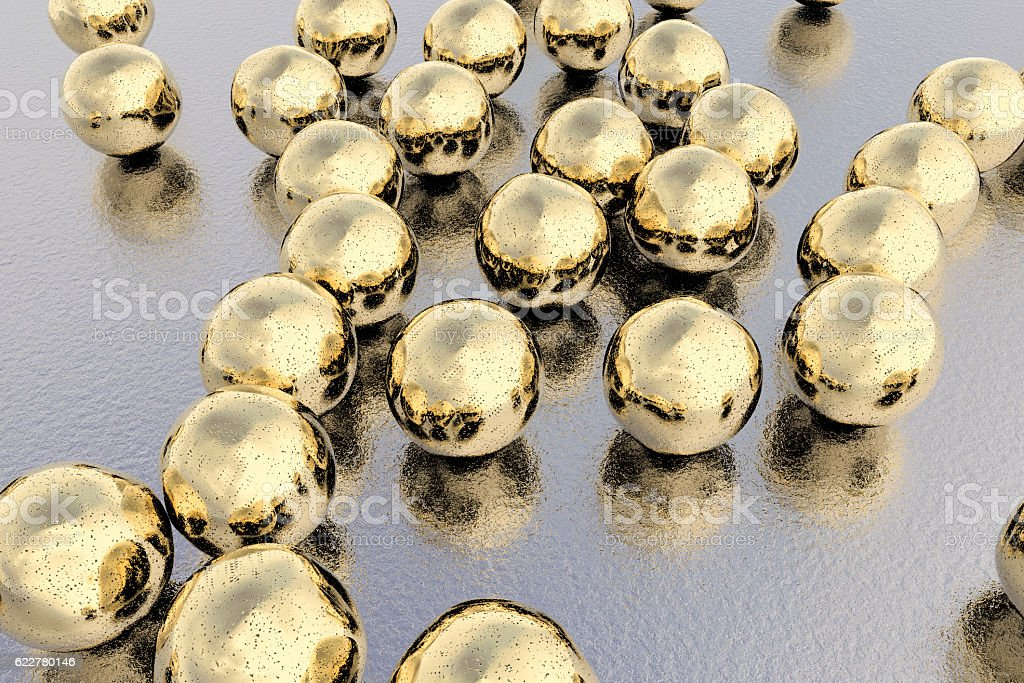 Gold nanoparticles illustration stock photo