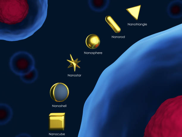 Gold nanoparticles stock photo
