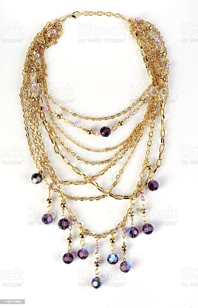 gold necklace royalty-free stock photo