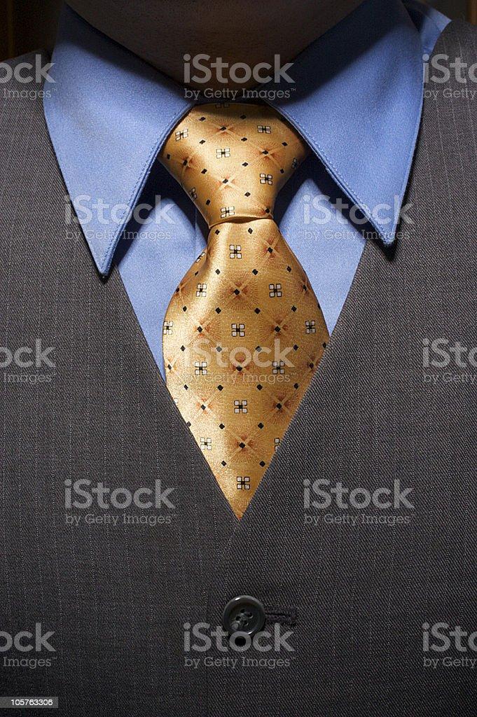 Gold Necktie (Flat) stock photo