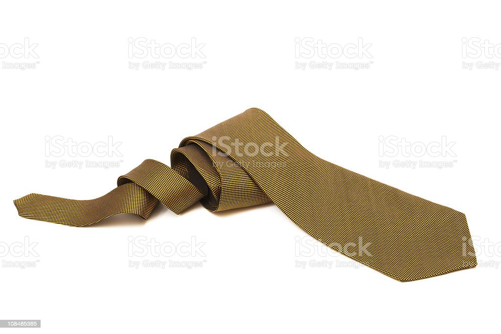 gold necktie stock photo