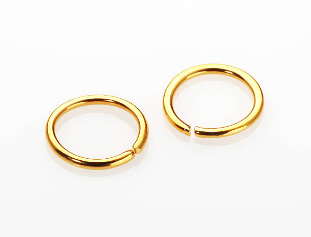 gold nose ring - nose ring stock pictures, royalty-free photos & images