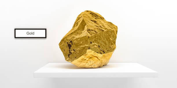 Gold-Nugget - 3D Rendering – Foto