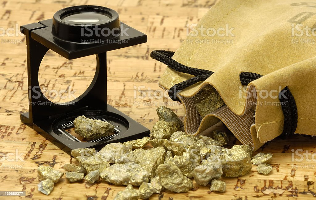 Gold Nugget stock photo