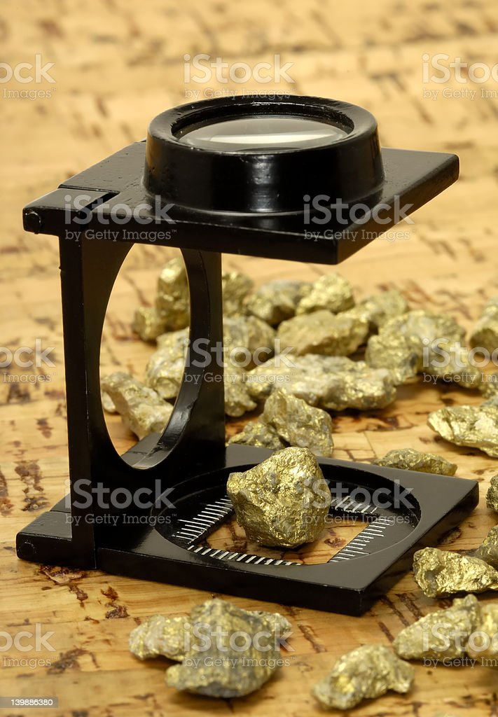 Gold Nugget royalty-free stock photo