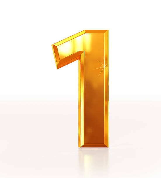 Gold Number 1 stock photo